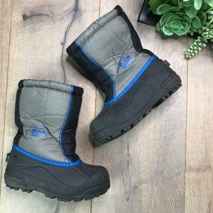 SOREL • Toddler Blue Grey Snow Waterproof Boots